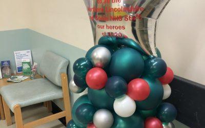 Scunthorpe Hospital Balloon Tree